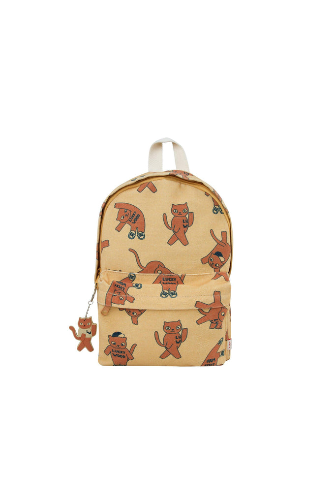 'CATS'' BACKPACK sand/brown - Cemarose Children's Fashion Boutique
