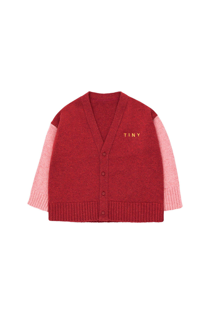 'TINY'' CARDIGAN burgundy/pale pink - Cemarose Children's Fashion Boutique