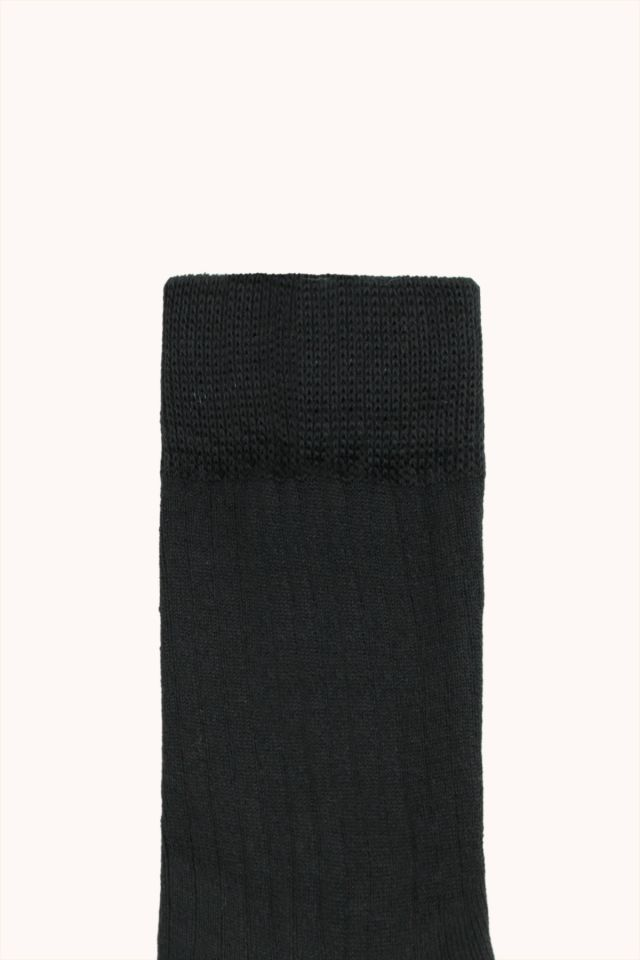 PACK OF 3 MEDIUM RIB SOCKS black/dark green/dark brown