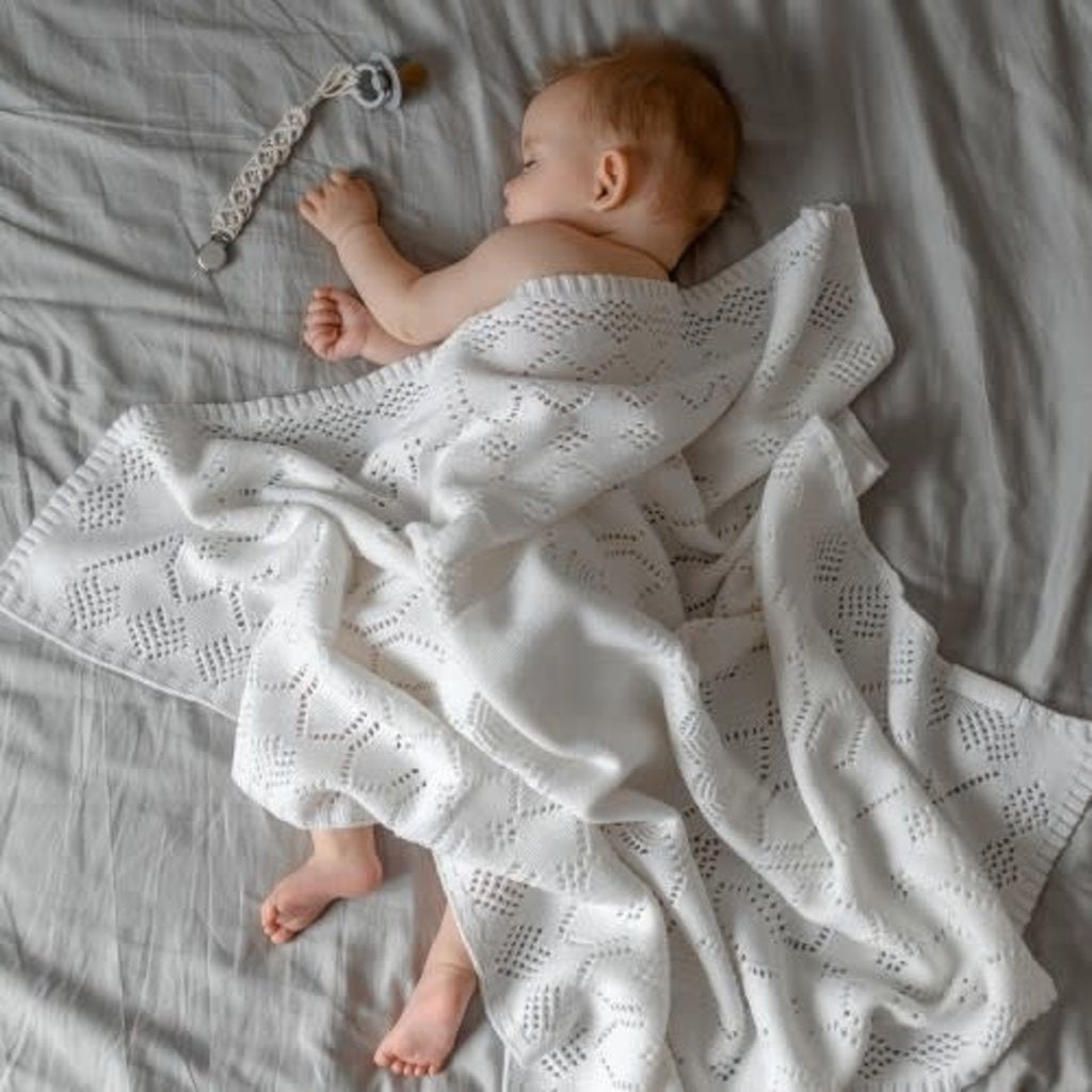 ROYALS blanket, white - Cemarose Children's Fashion Boutique