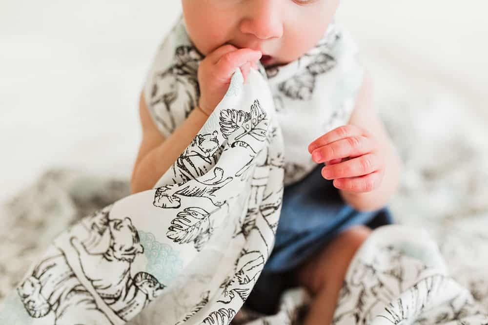 BAMBOO SWADDLE BLANKIES (2 PACK) - TIGER