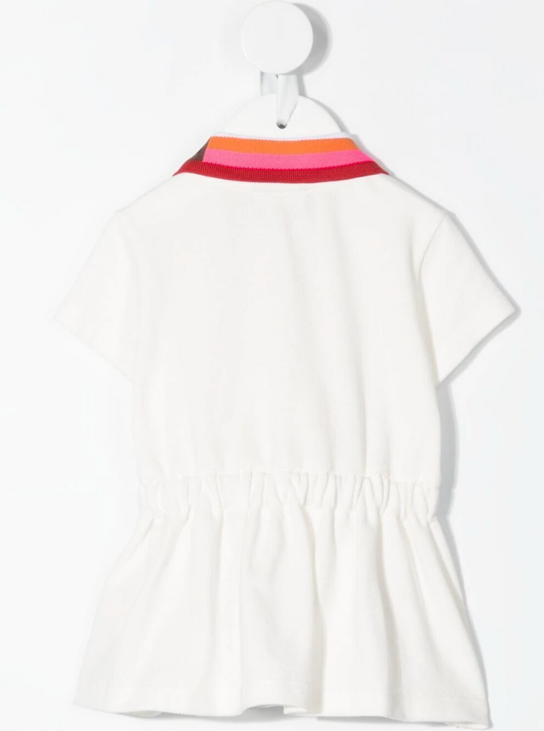 BB GIRL POLO DRESS W COL COLLAR,WHITE