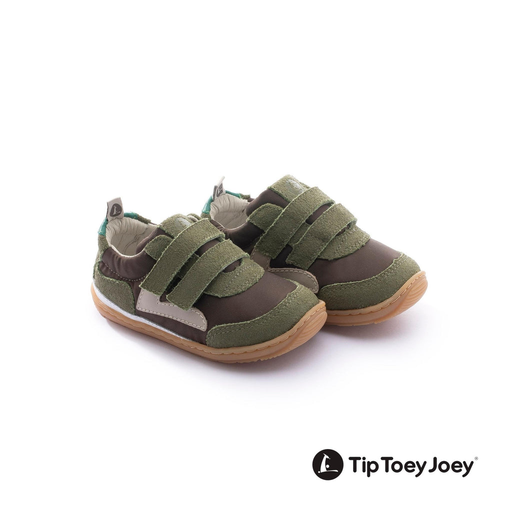 JUMPY, COFFEE NYLON/ DRY MUSCHIO SUEDE - Cemarose Children's Fashion Boutique