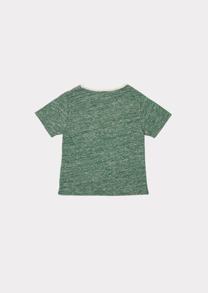 SHARK T-SHIRT,GREEN MELANGE