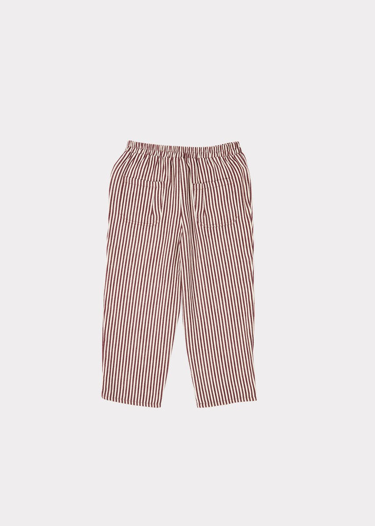 SQUID TROUSERS,BROWN STRIPE
