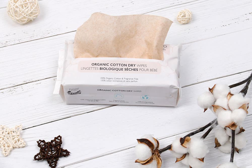 Organic Cotton Dry Baby Wipes