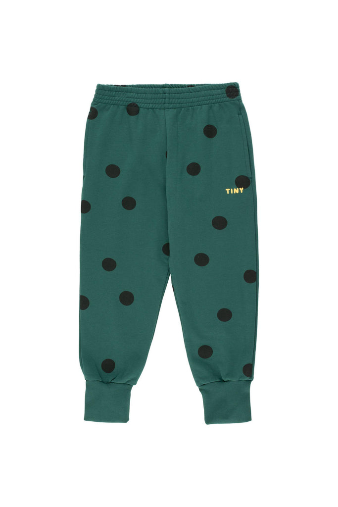 """BIG DOTS"" SWEATPANT dark green/black - Cemarose Children's Fashion Boutique"