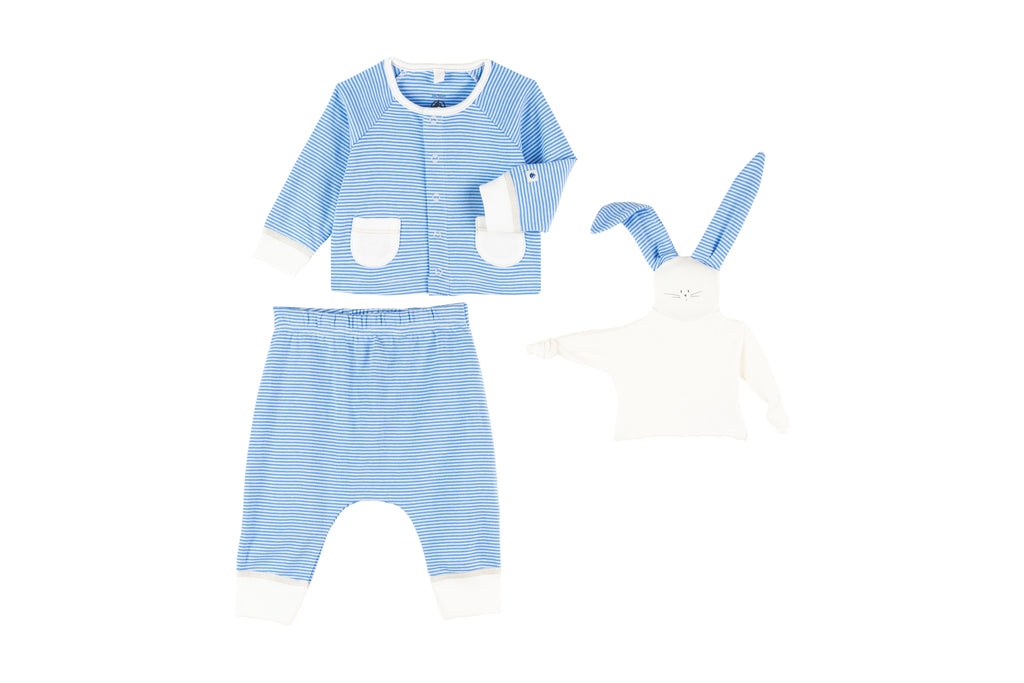 ENSEMBLE 3 PIECES,BLUE BUNNY