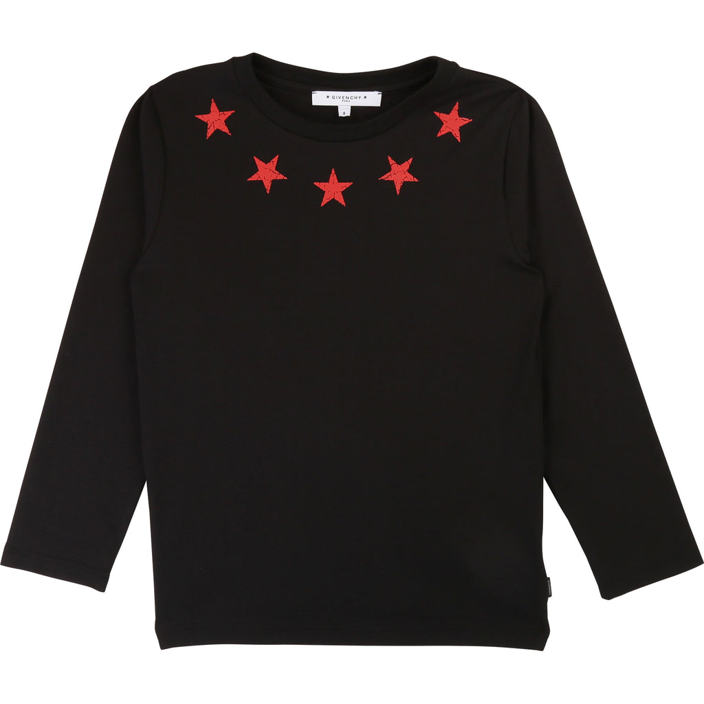 LONG SLEEVE T-SHIRT, BLACK - Cemarose Children's Fashion Boutique