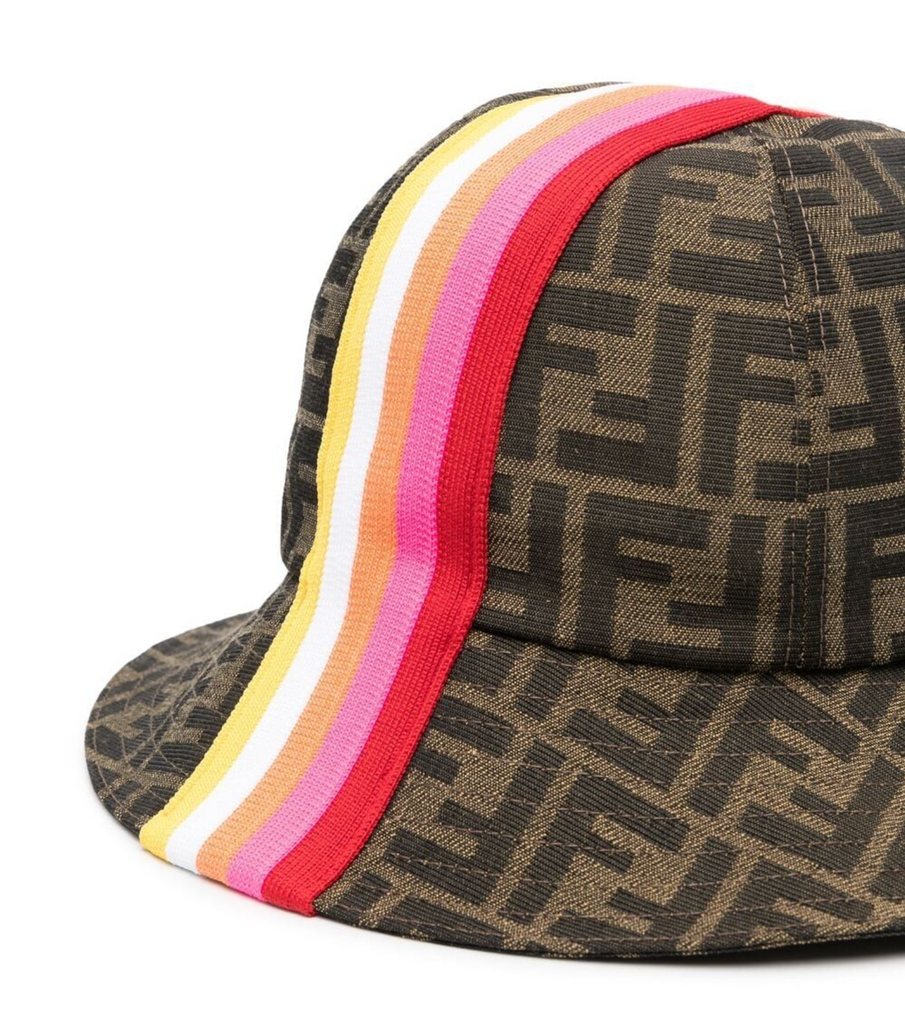 HAT W STRIPES PRT AND ALLOVER LOGO,RED