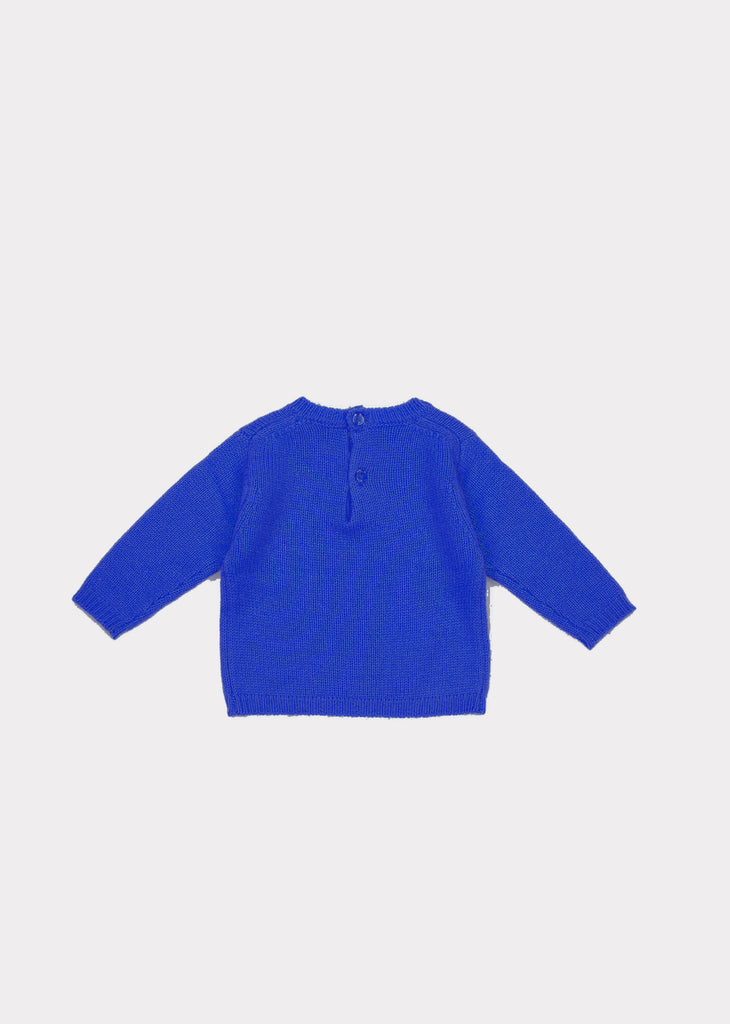 HOLLYHOCK BABY JUMPER,SKY BLUE - Cemarose Children's Fashion Boutique