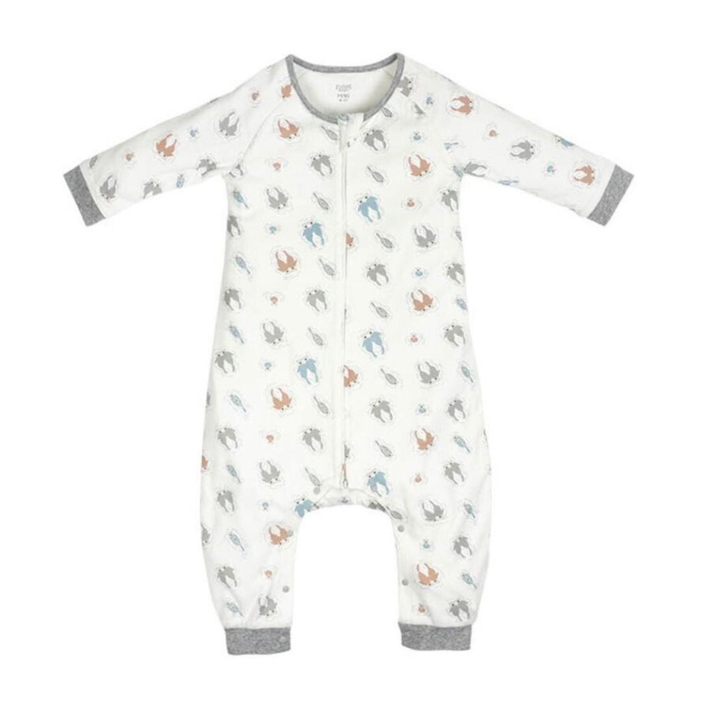 Organic Cotton Long Sleeve Sleep Suit 1.0 TOG - Otter Love