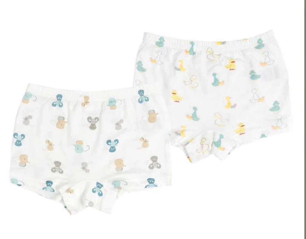 Girls- Bamboo Boxer Briefs (2pack) - Mighty Mouse + Rubber Duck