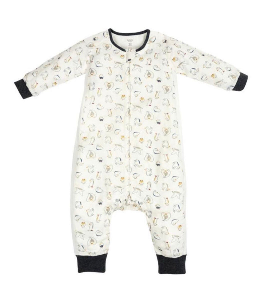 Bamboo Long Sleeve Sleep Suit 0.6 TOG - Pacific Puffin