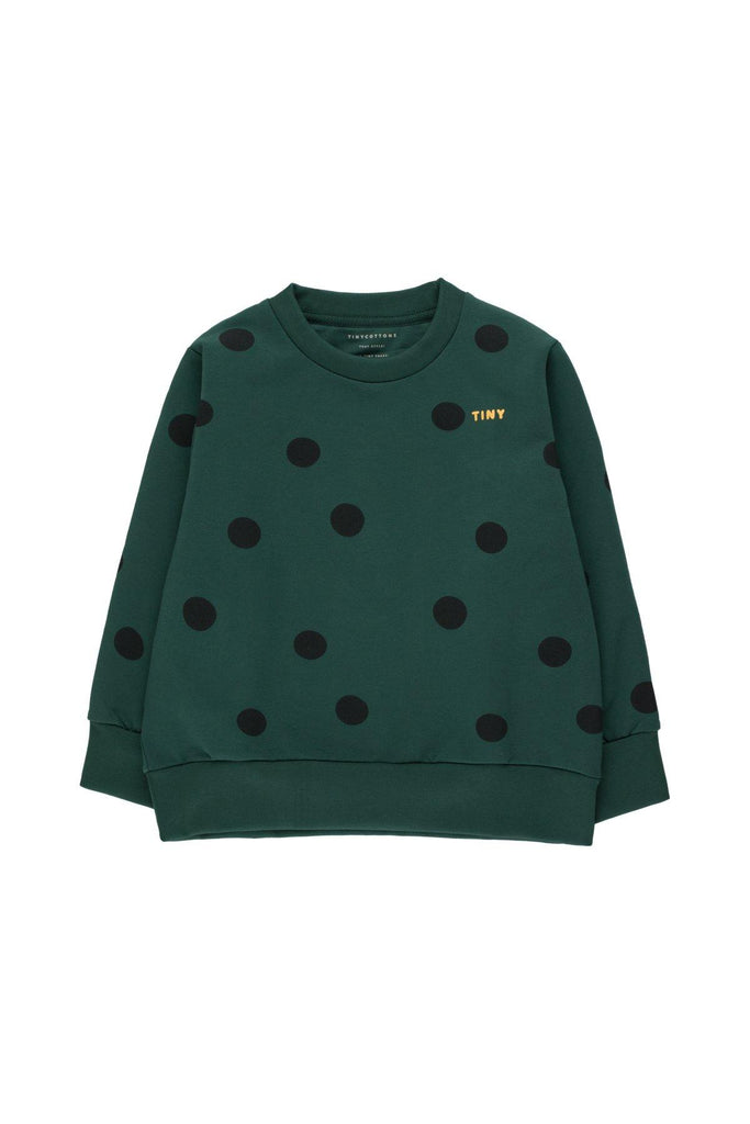 """BIG DOTS"" SWEATSHIRT dark green/black - Cemarose Children's Fashion Boutique"