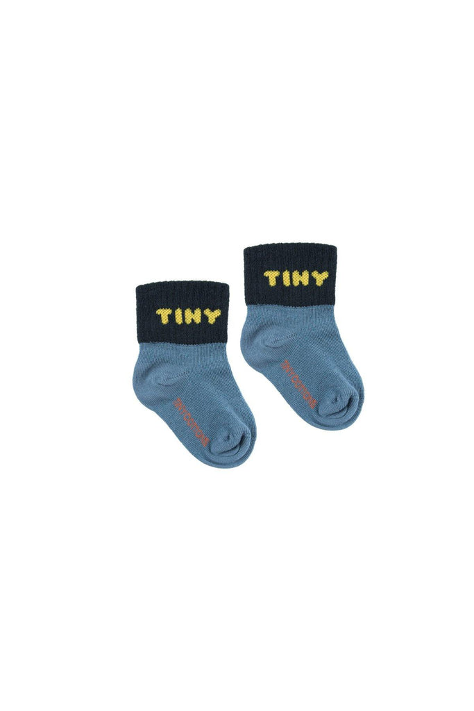 """TINY"" QUARTER SOCKS sea blue/navy - Cemarose Children's Fashion Boutique"