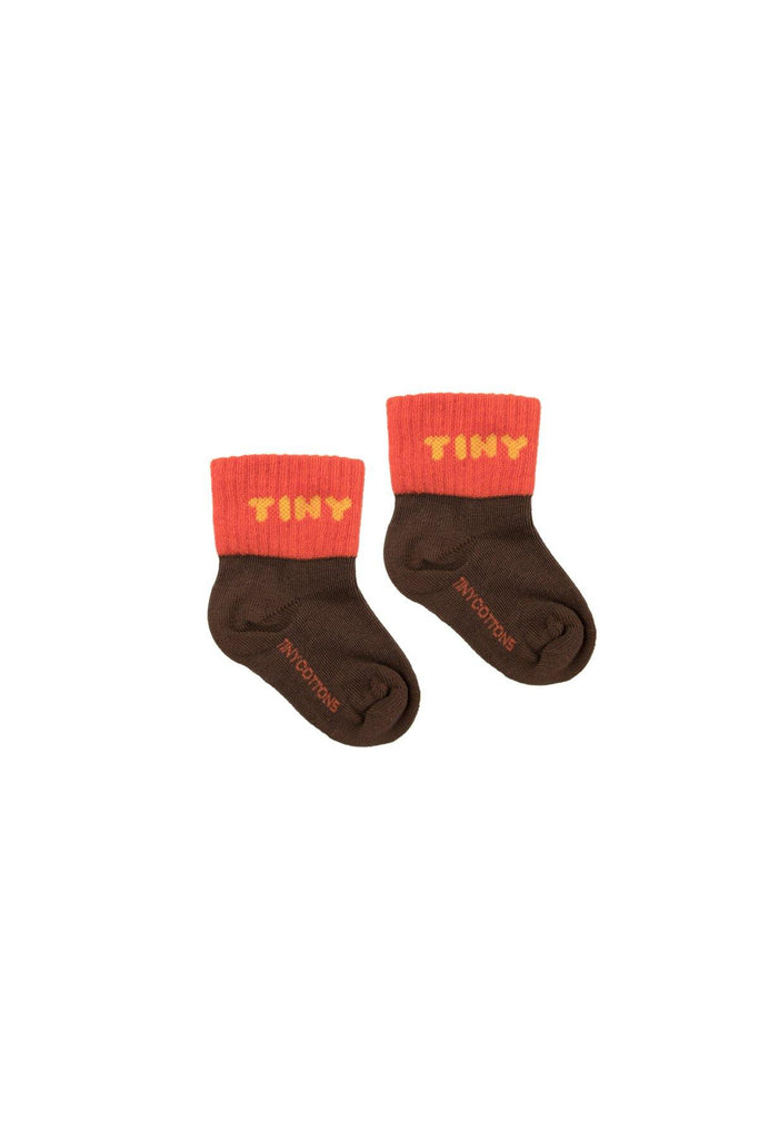 """TINY"" QUARTER SOCKS ultra brown/red - Cemarose Children's Fashion Boutique"