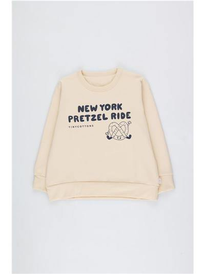 """PRETZEL RIDE"" SWEATSHIRT cream/light navy - Cemarose Children's Fashion Boutique"