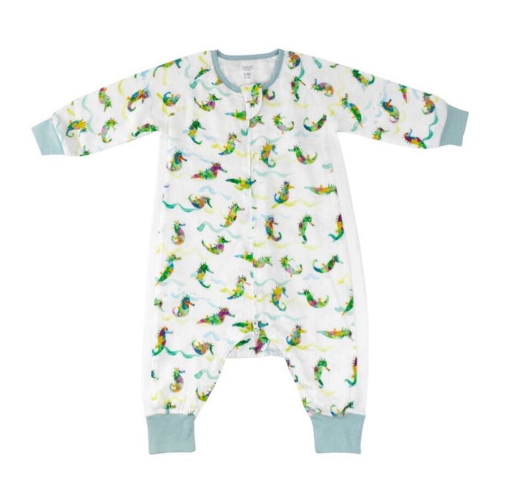 Eric Carle Bamboo Long Sleeve Sleep Suit 0.6TOG - Rainbow Seahorse