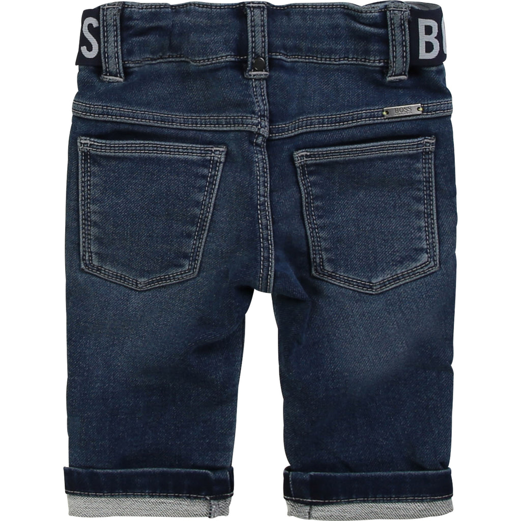 DENIM TROUSERS, STONE PULVERISATION - Cemarose Children's Fashion Boutique