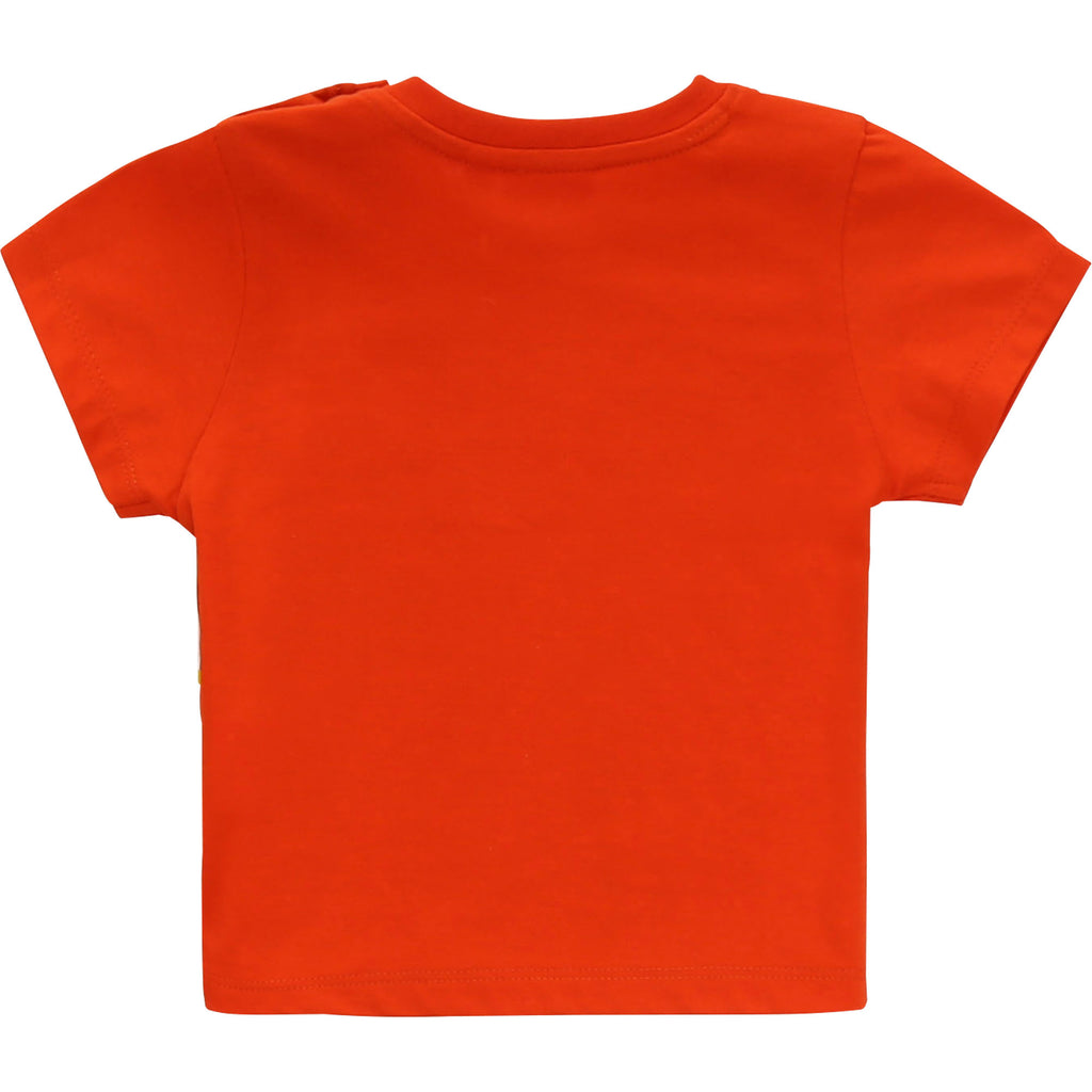BABY SHORT SLEEVES TEE-SHIRT, BRIGHT RED