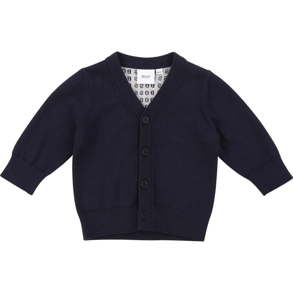 KNITTED CARDIGAN, NAVY - Cemarose Children's Fashion Boutique