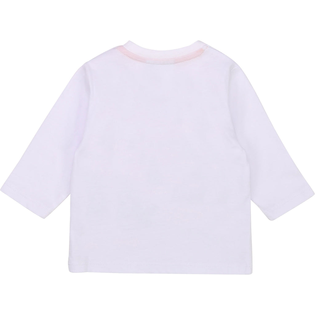 BABY LONG SLEEVE T-SHIRT,WHITE
