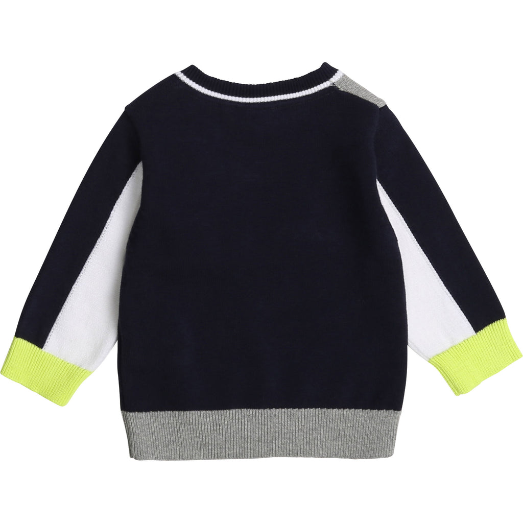 PULLOVER J05812 ,GREY/BLUE NAVY