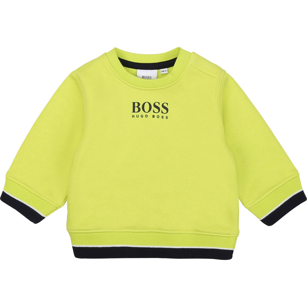 BABY SWEATSHIRT,GREEN LEMON