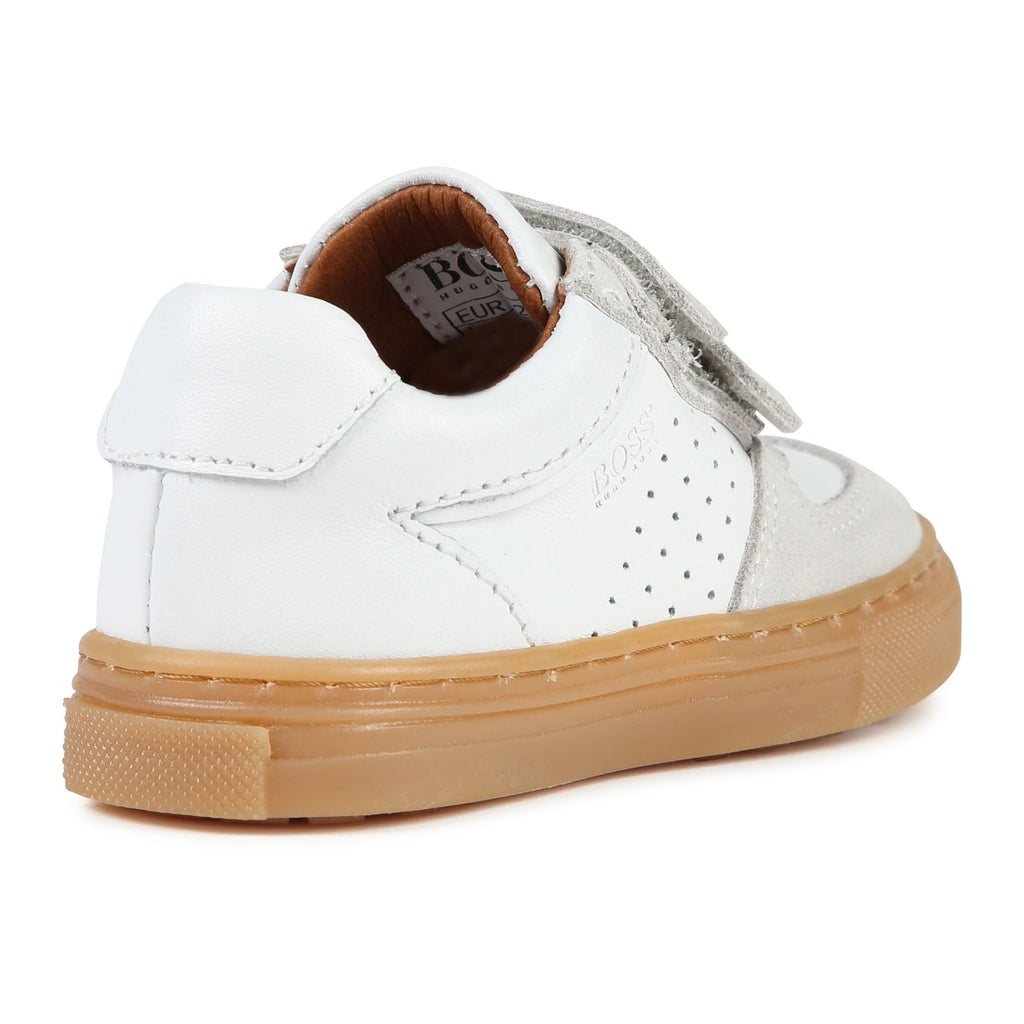 ESSENTIEL LOW TRAINERS, WHITE - Cemarose Children's Fashion Boutique