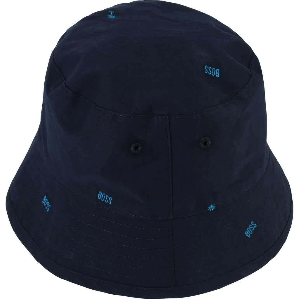 CASUAL REVERSIBLE BUCKET HAT, NAVY