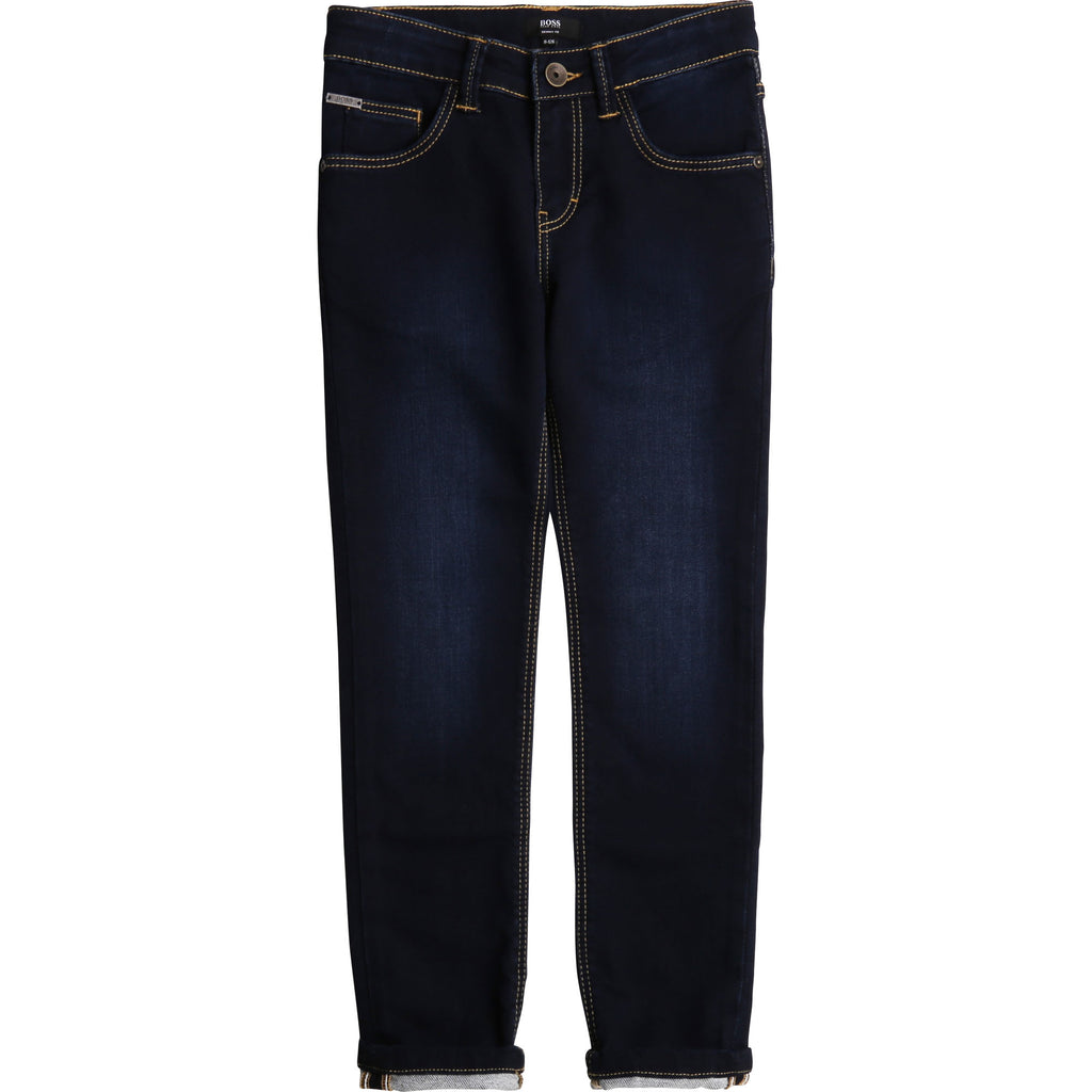 KID DENIM TROUSERS,DENIM RINSE DIRTY