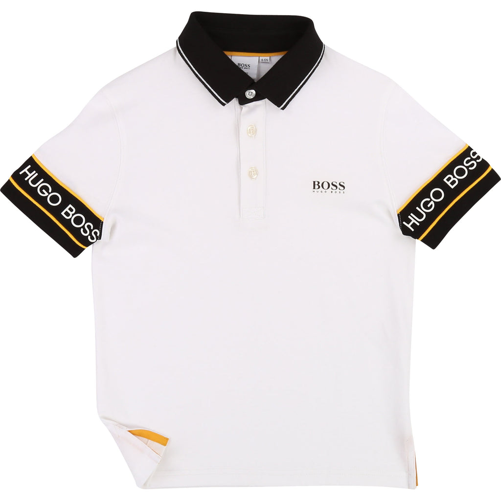 SHORT SLEEVE POLO, WHITE (2019) - Cémarose Canada