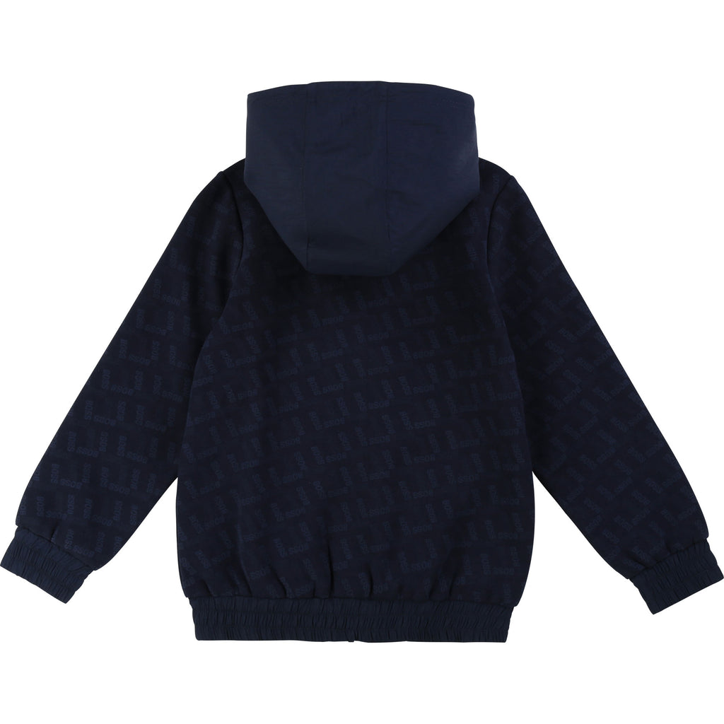 REVERSIBLE CARDIGAN, NAVY - Cemarose Children's Fashion Boutique