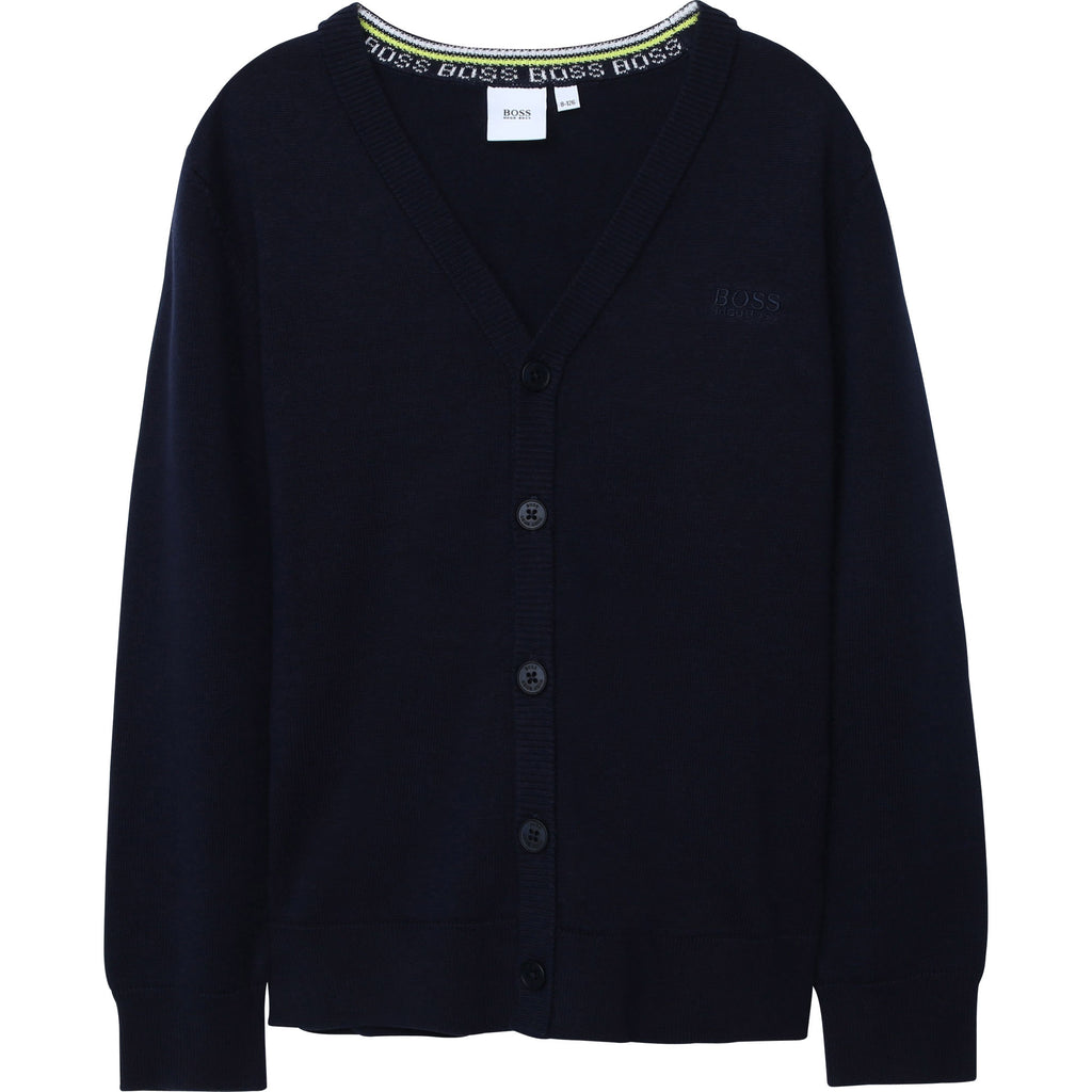 KID KNITTED CARDIGAN J25G75,NAVY