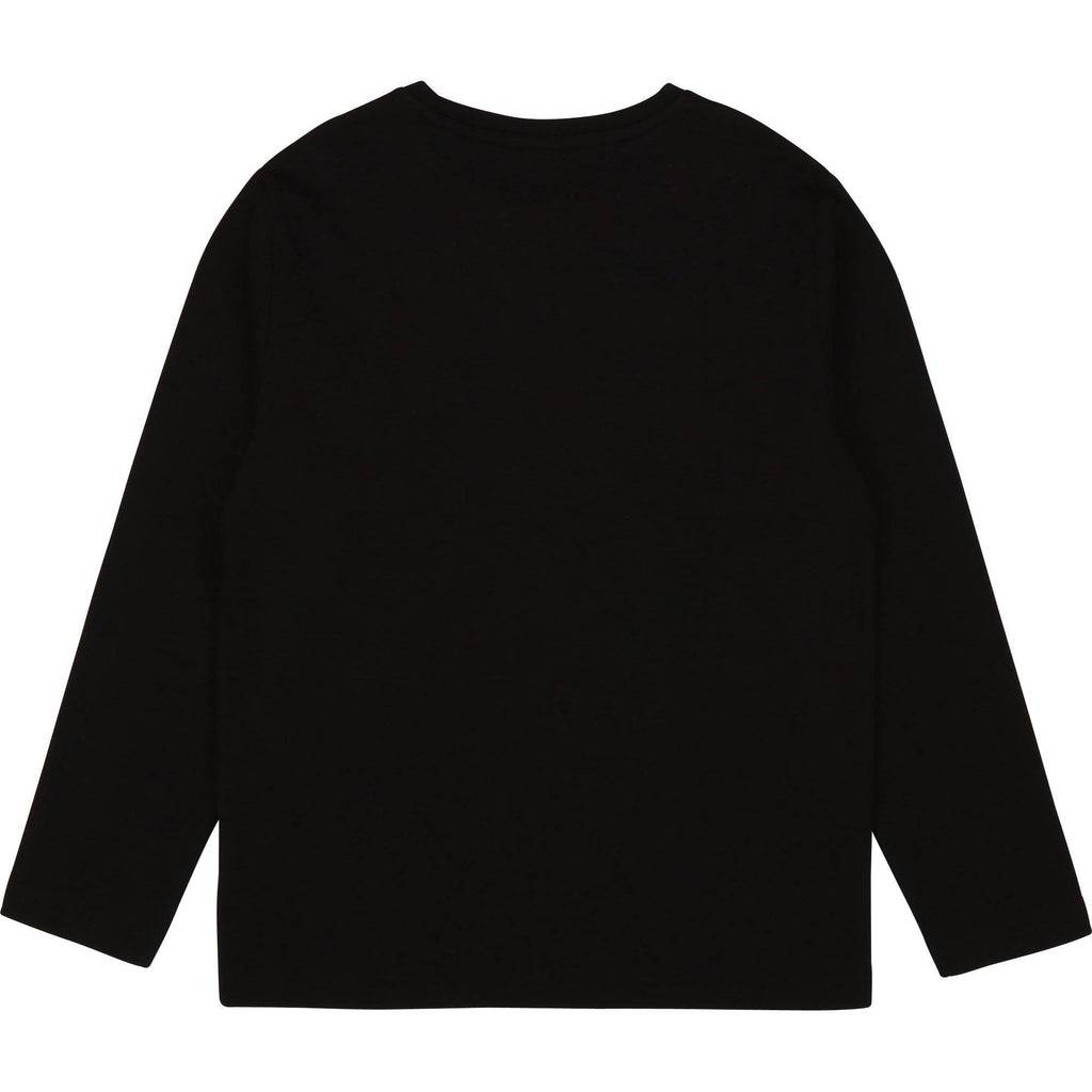 KID LONG SLEEVE T-SHIRT,BLACK