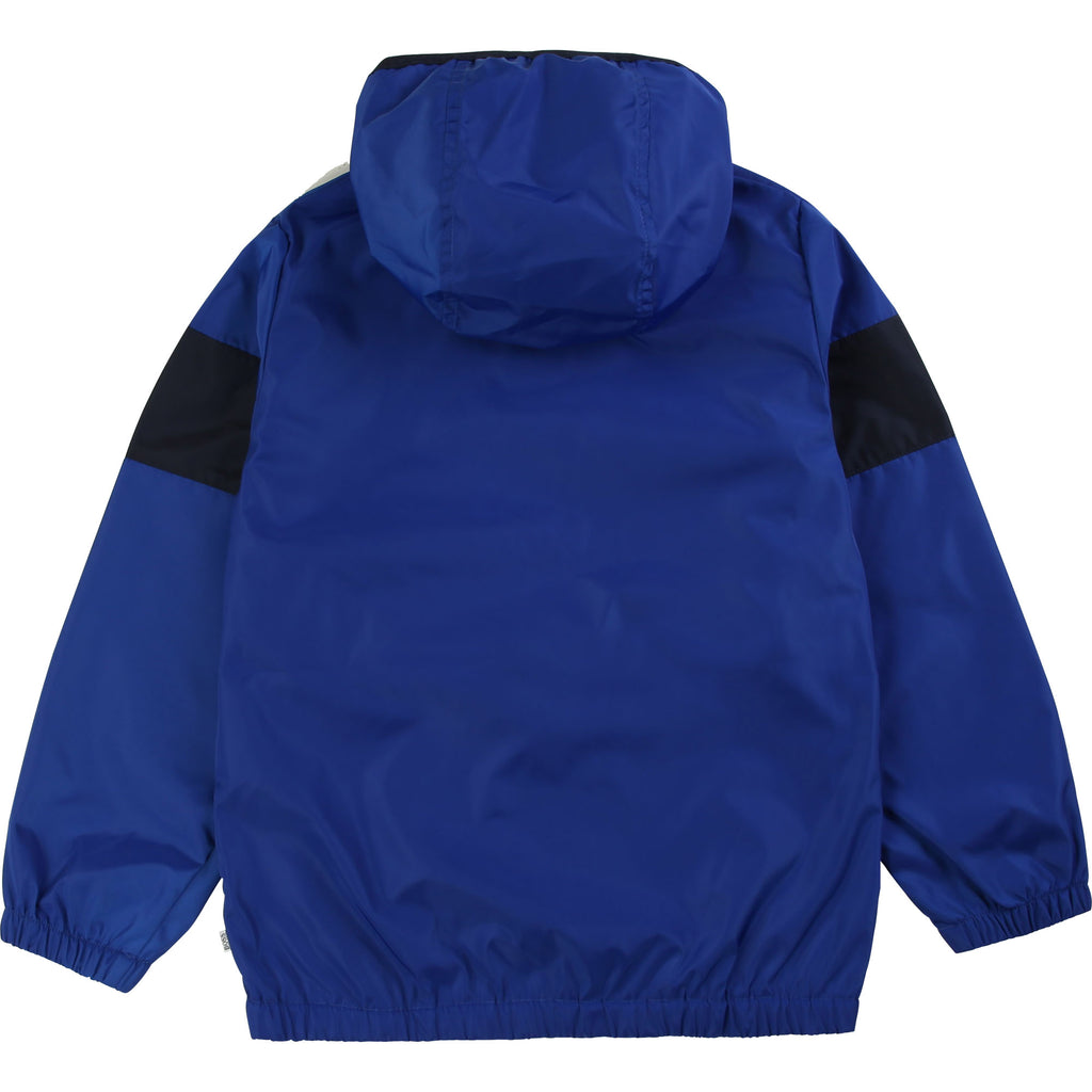 HOODED WINDBREAKER, BLUE