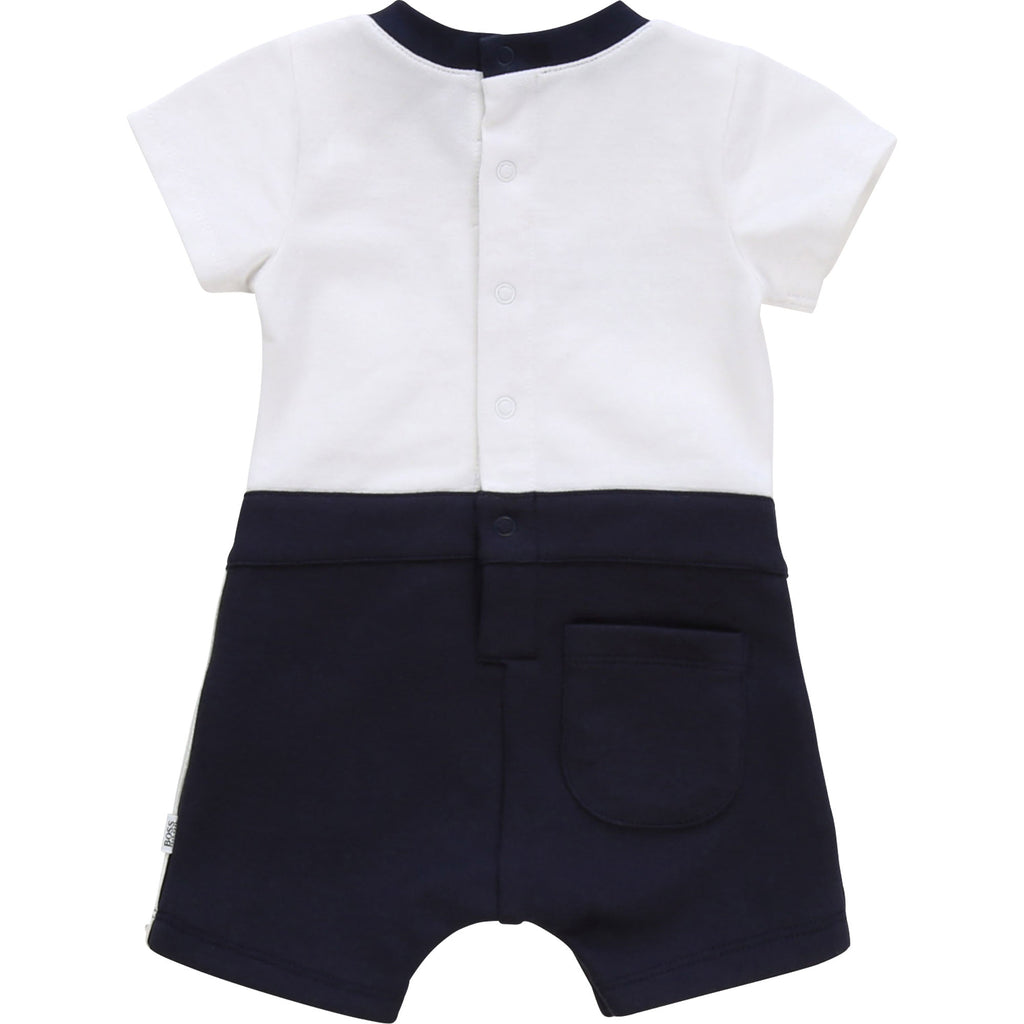 NEWBORN BOY SHORT ALL IN ONE, WHITE