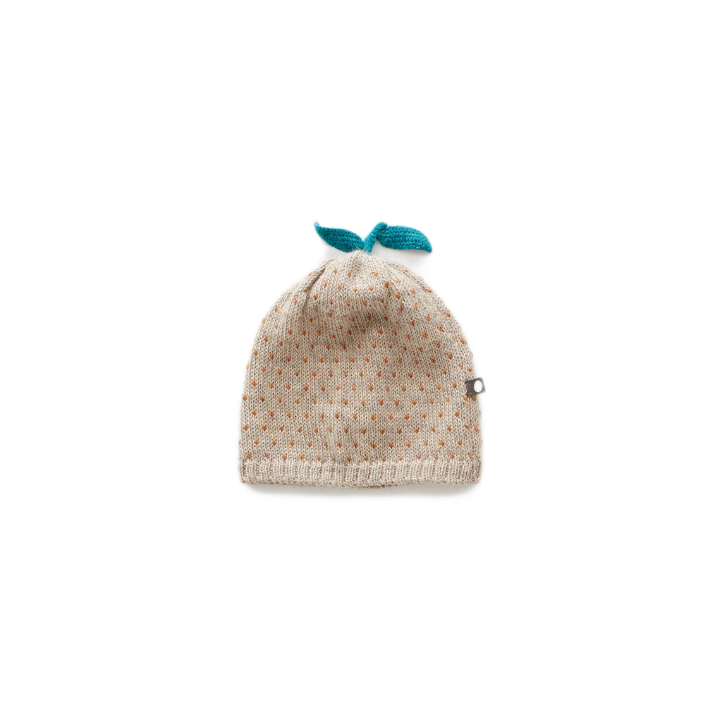dot hat, grey/ochre - Cemarose Children's Fashion Boutique