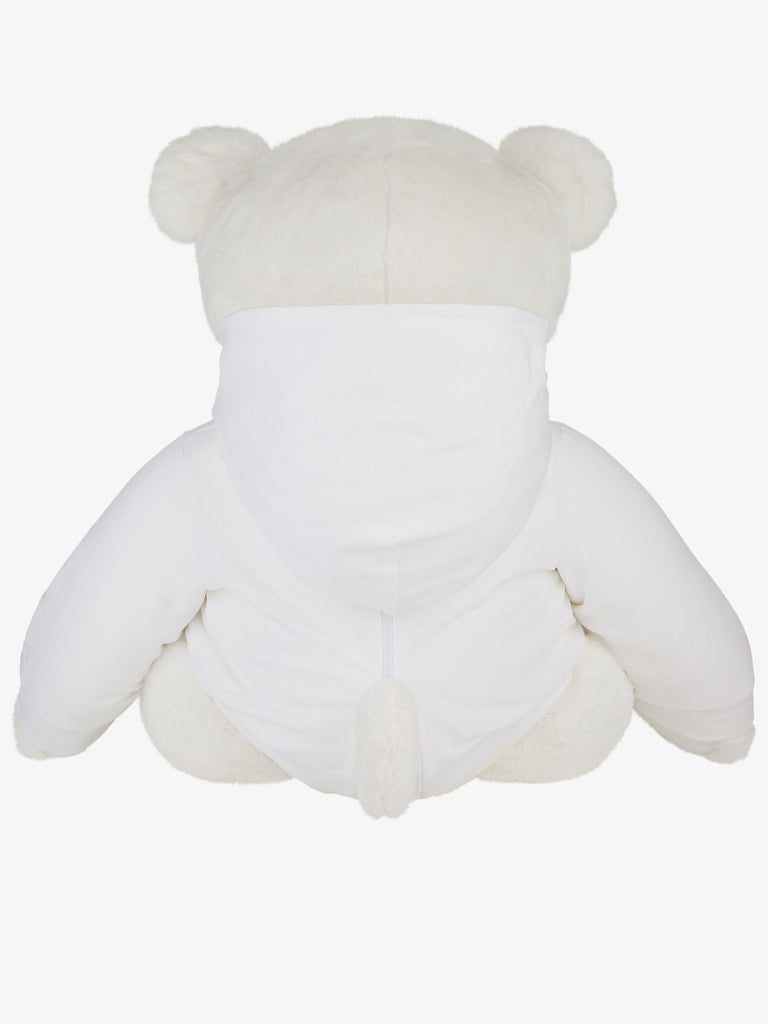 GIANT TEDDY WITH HOODED SWEATER,WHITE