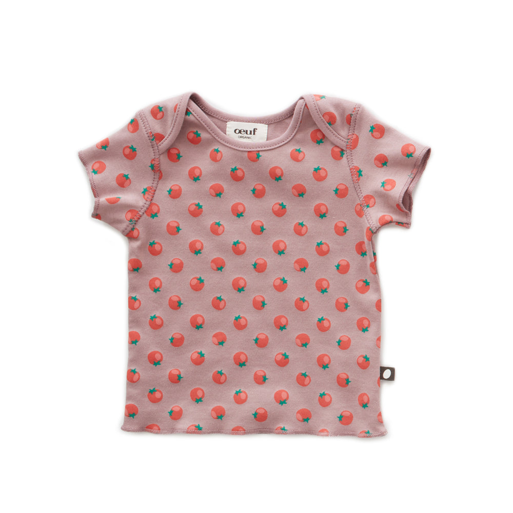 Baby Tee, Tomato Print - Cemarose Children's Fashion Boutique
