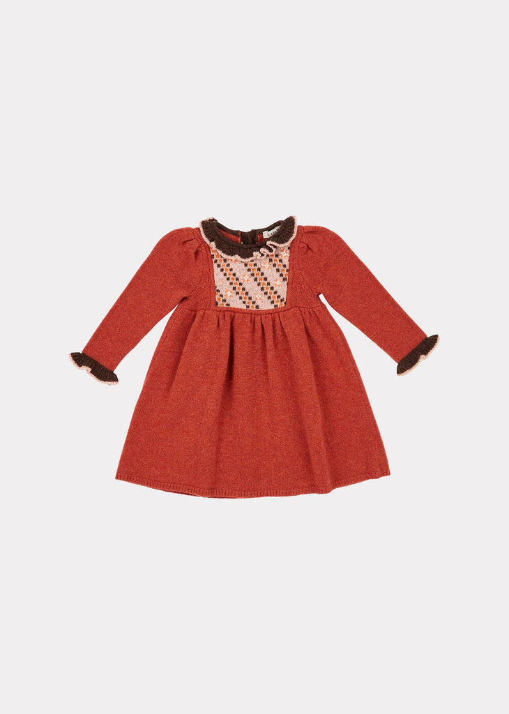 NIGHTINGALE BABY DRESS,CINNAMON