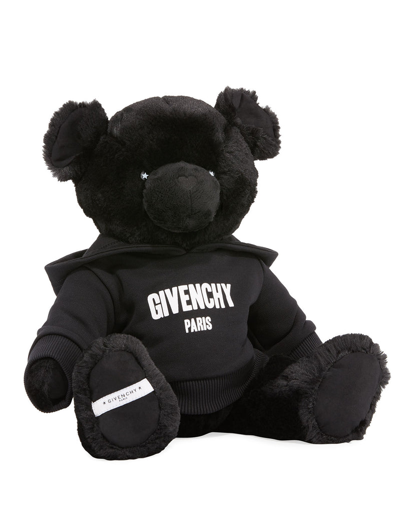 TEDDY W/HOODED SWEATER CRACKED LOGO,BLACK