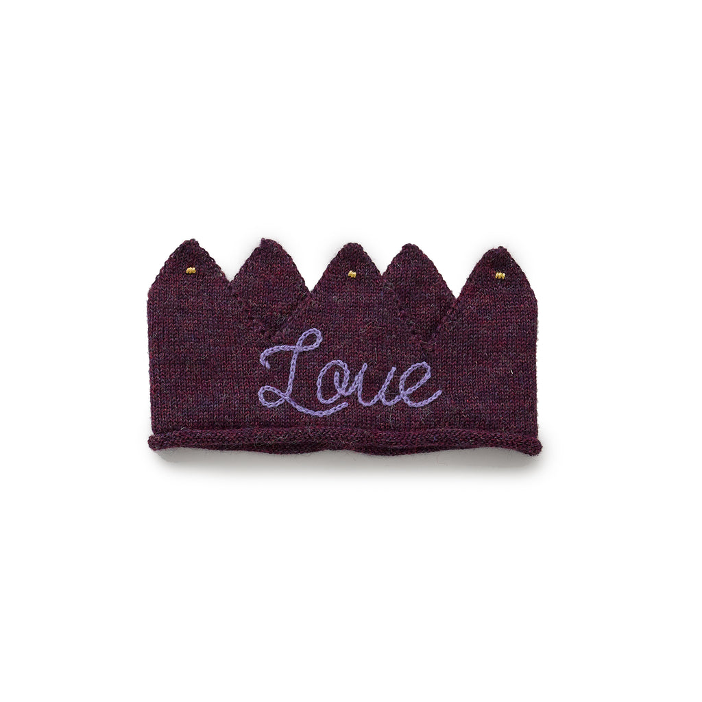 Embroidered Crown-Mauve/Love