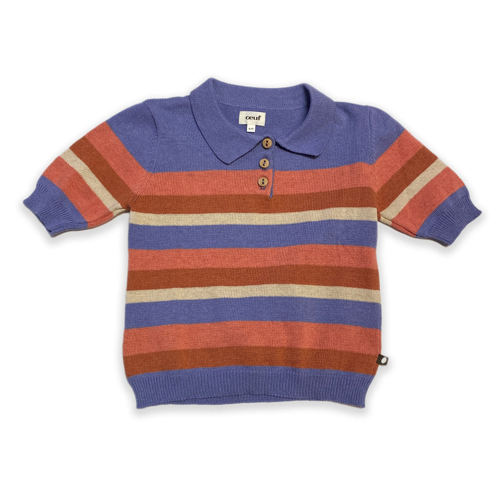 Polo-Burnt Orange/Stripes