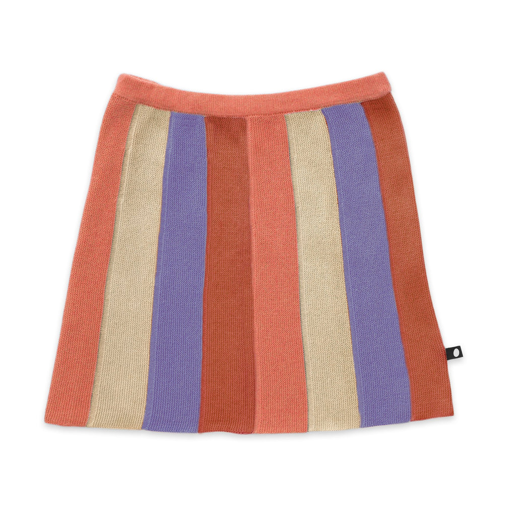 Striped Everyday Skirt-Burnt Orange/Stripes