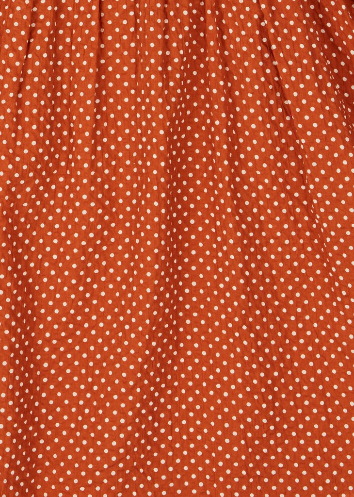 ORCA DRESS,RUST DOT