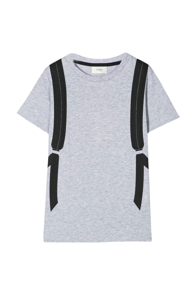 SS TEE WITH BACKPACK ILLUSTRATION, GREY