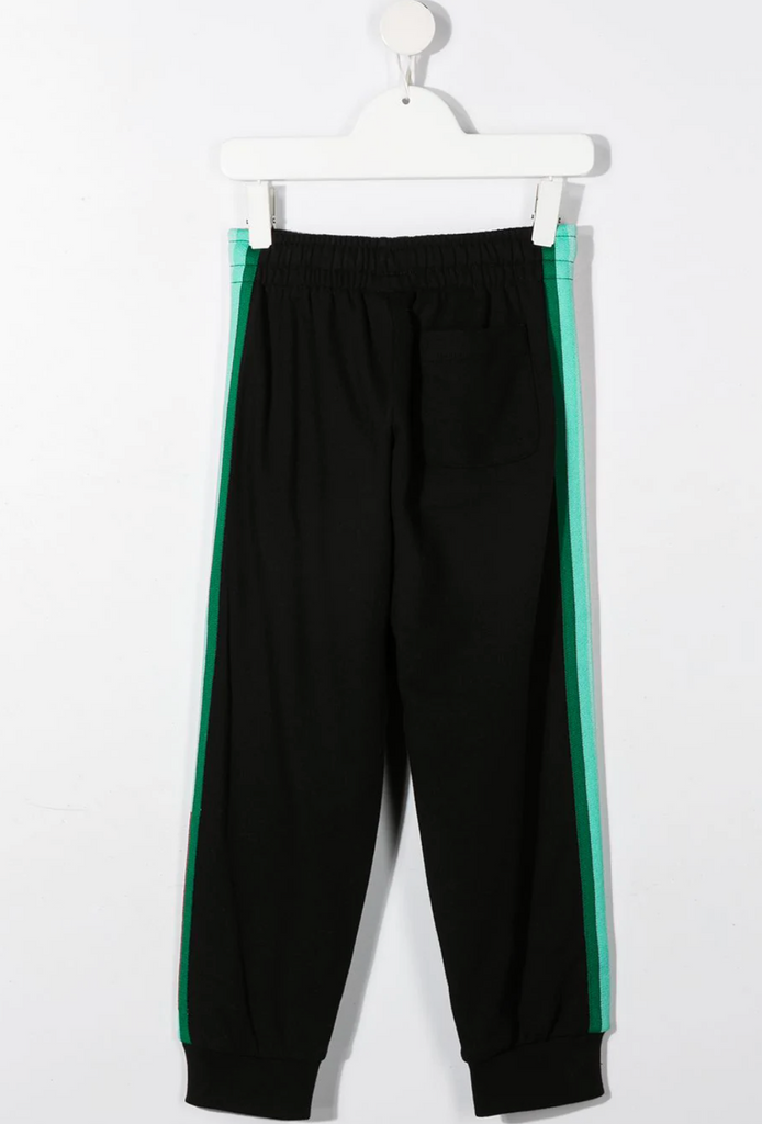 PANT WITH RACER STRIP AND LOGO TRIM,BLK GREEN