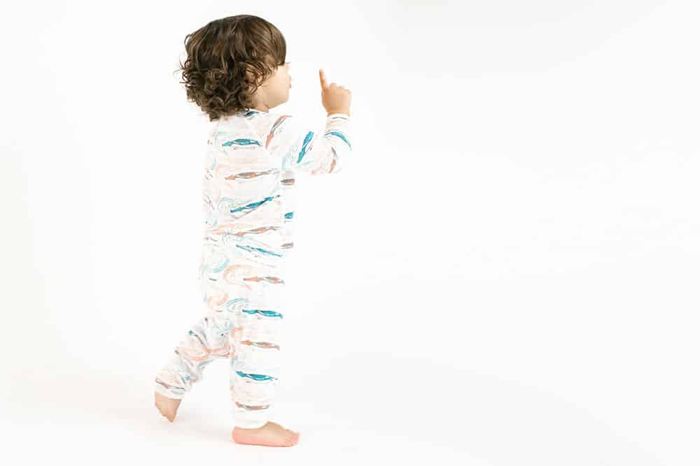 Two-Piece Bamboo Jersey PJ Set - Crocodile Party - Cemarose Children's Fashion Boutique